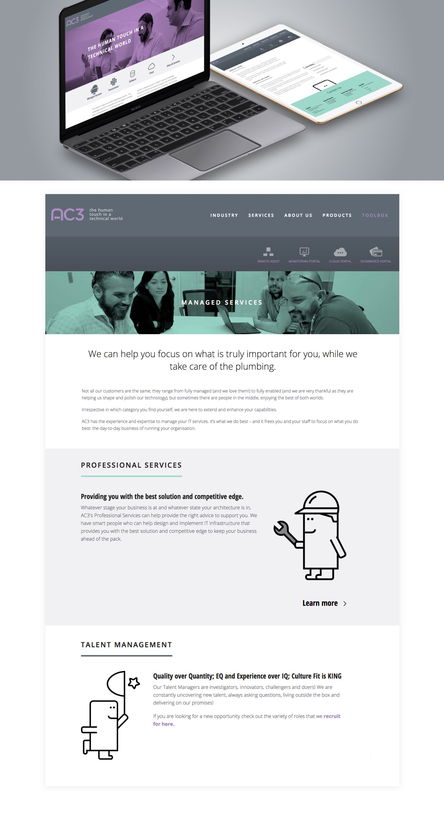 AC3 Website example