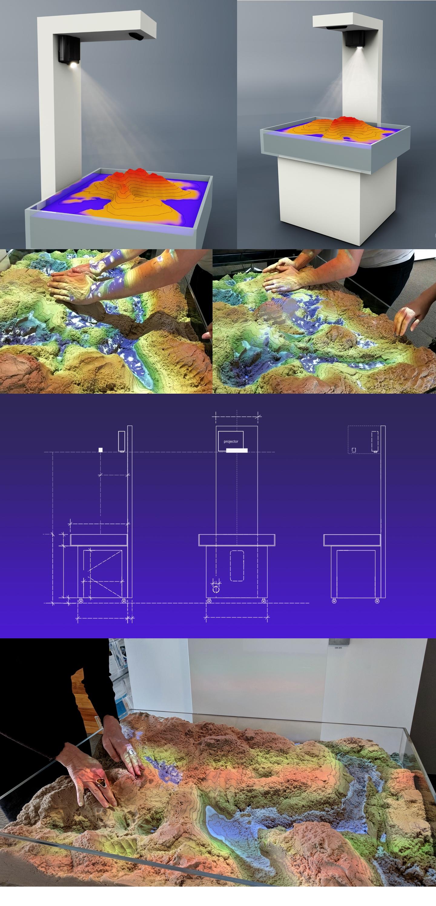 Sydney Water - augmented reality sandbox exhibit