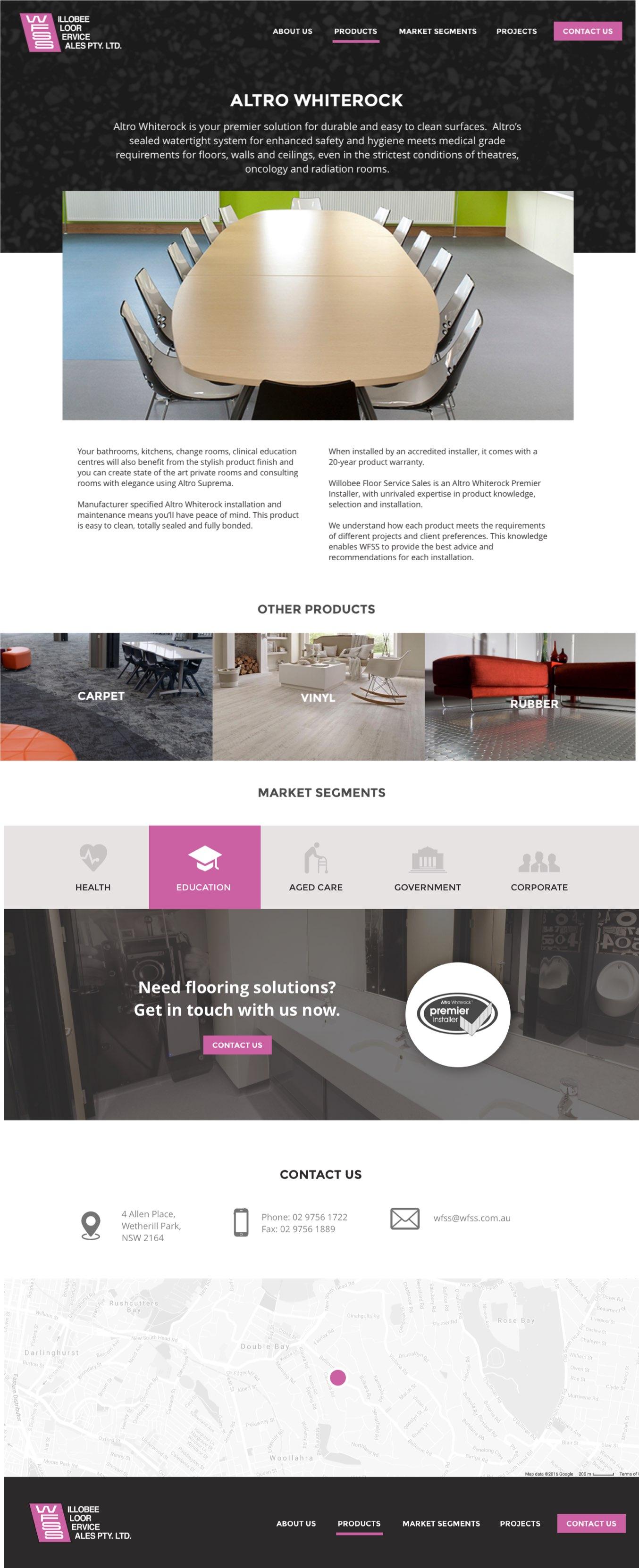 Willobee Floor Service Sales - Website