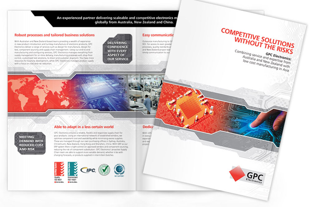 GPC Electronics company brochure | Print and graphic design | Art of